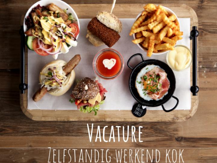 Vacature – zelfstandig werkend kok M/V